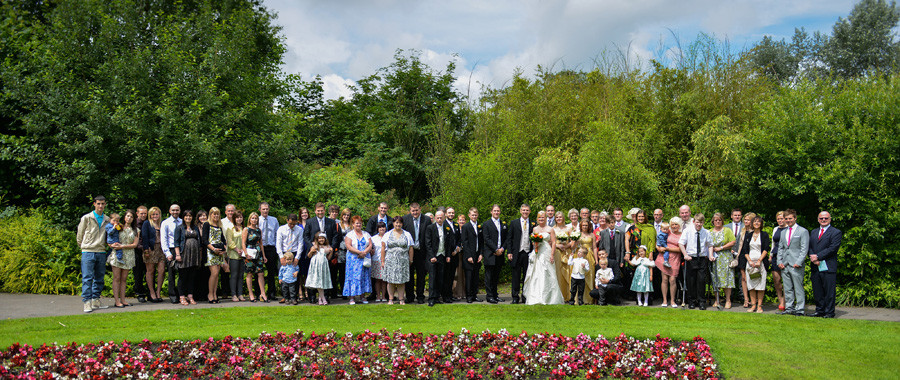 wedding at Riversley Park out side the Museum and Art Gallery, Nuneaton, Warwickshire