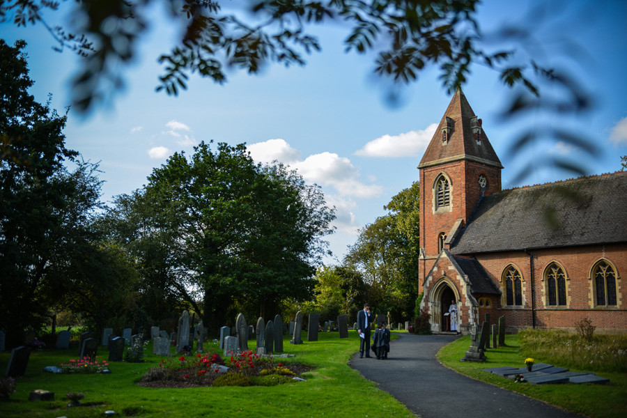 St James Church in Weddington, Nuneaton on the wedding day