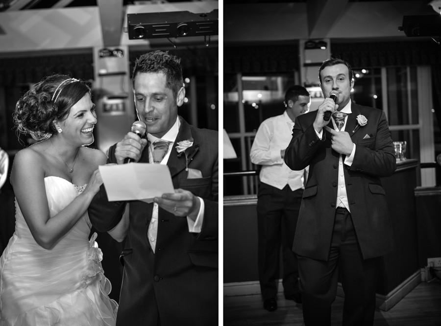 Wedding speeches at the Weston Hall Hotel in Bulkington, Nuneaton