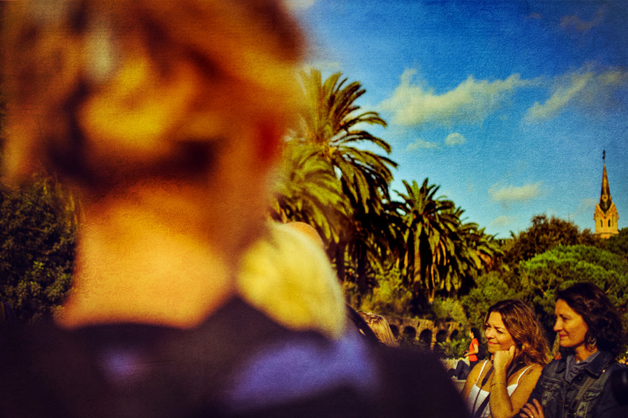 Portrait of Laura Mazzello in Park Guell, Barcelona