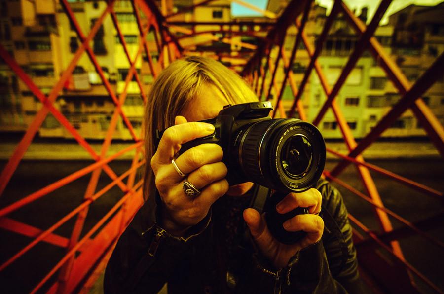 Portrait of Melanie Berthelot in Girona, Spain.
