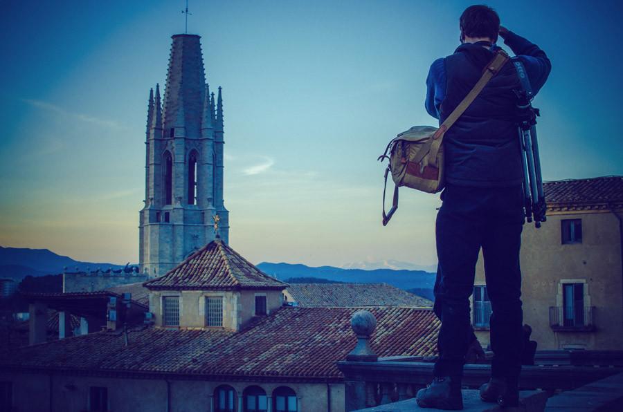 Ben Evans in Girona with Fujifilm XE1 camera