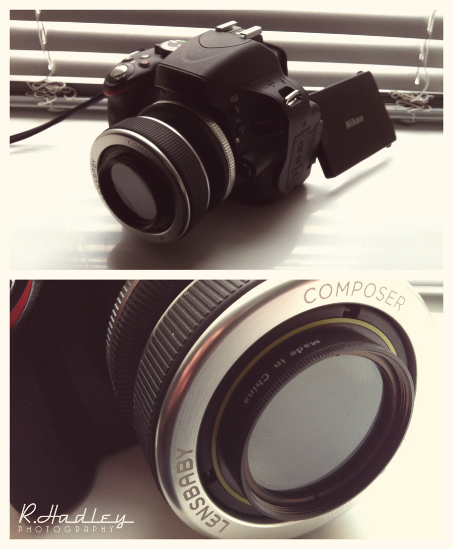 Nikon D5100 camera with Lensbaby lens
