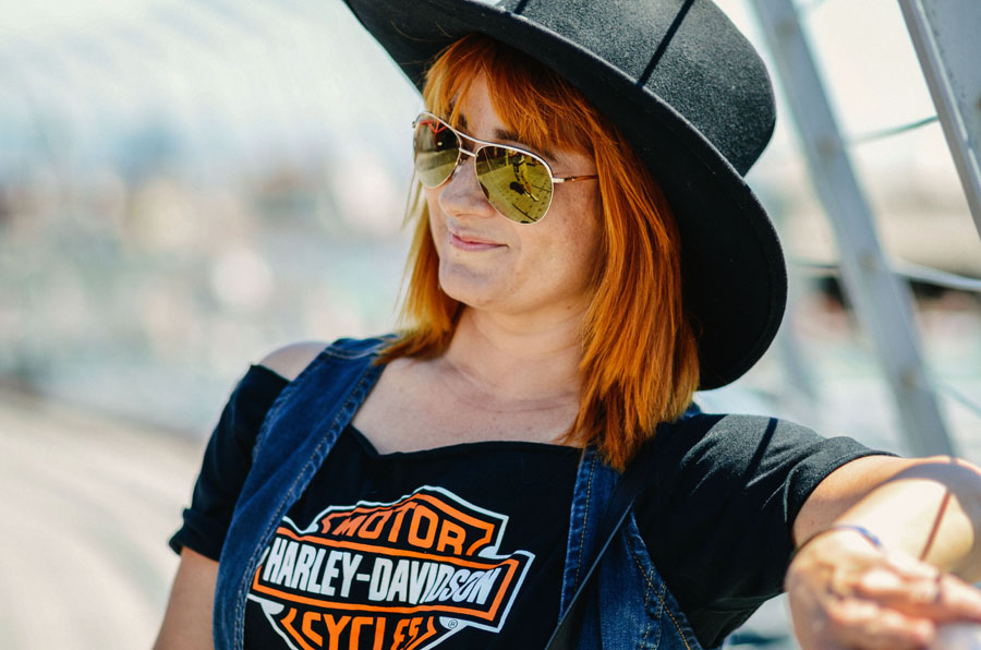 Esther Cabrera Monsonís at Harley Days event in Barcelona 2013