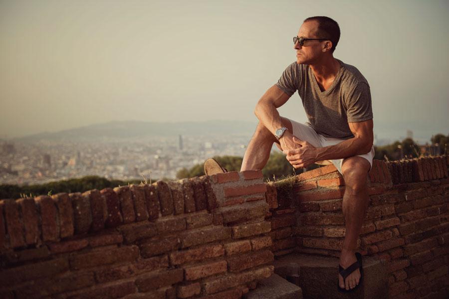 Portrait session at Montjuic Castle in Barcelona