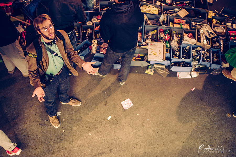 Portrait Ben Evans with Nikon D600 in Encants Market, Barcelona