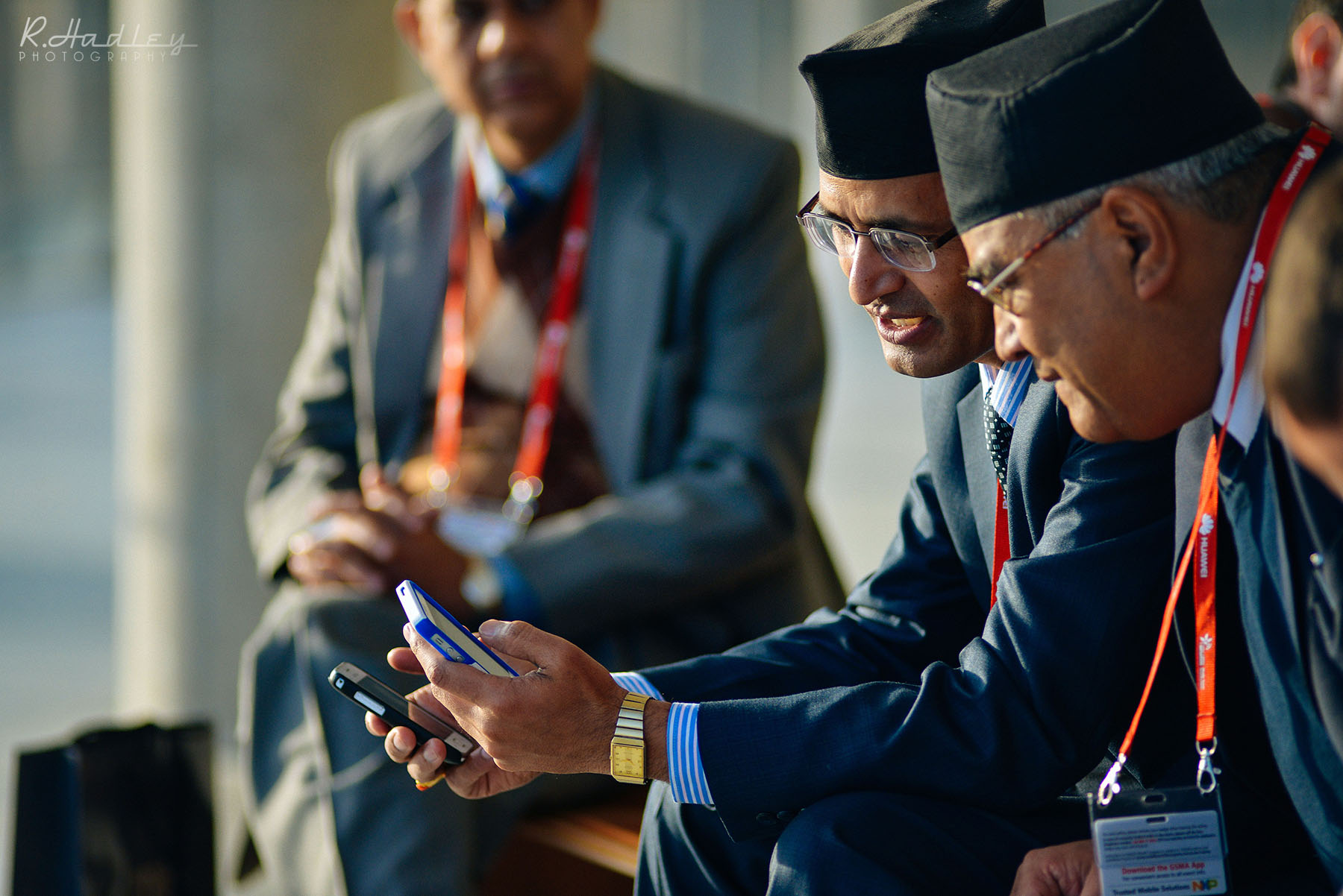 Event photographer and videographer at the Mobile World Congress at the Fira in Barcelona