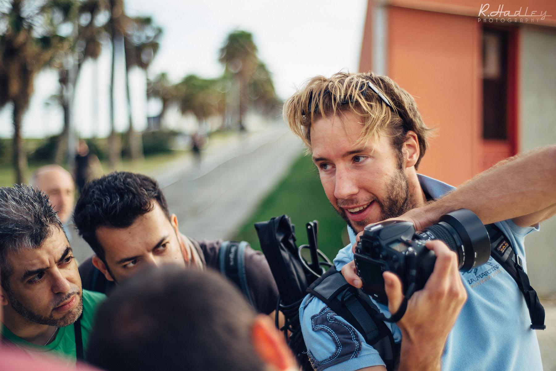 Portrait of Ben Evans photographer in Barcelona