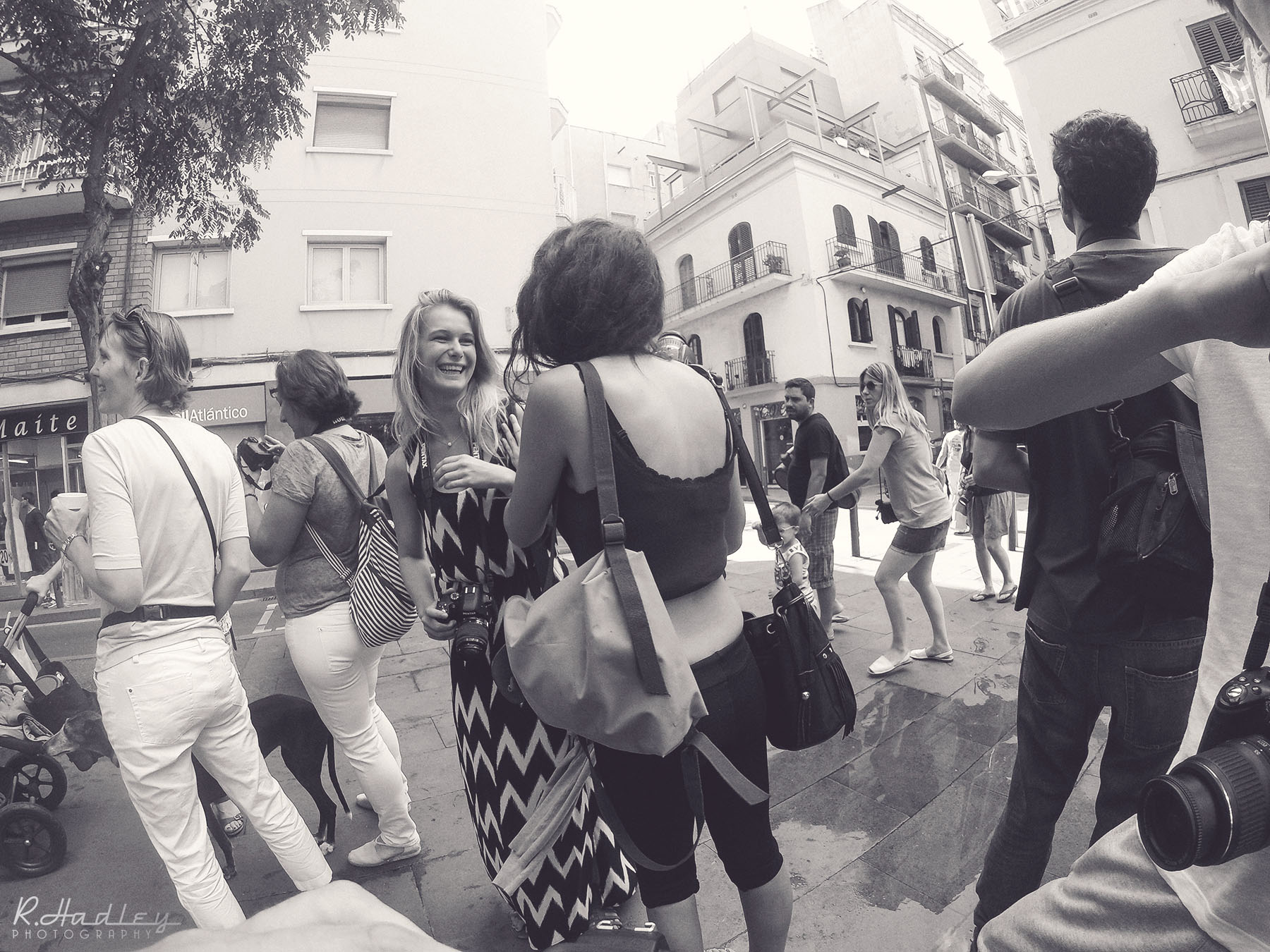 Photography event in Barcelona with on board GoPro camera