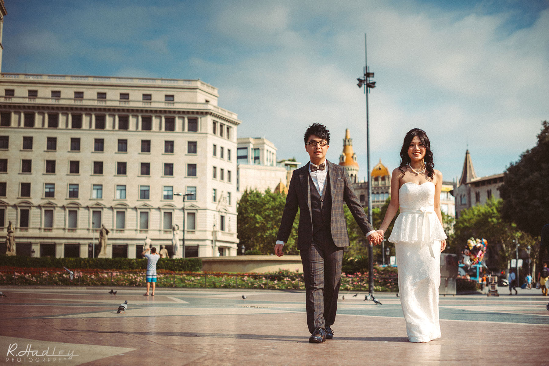 Wedding portrait photo session in Barcelona