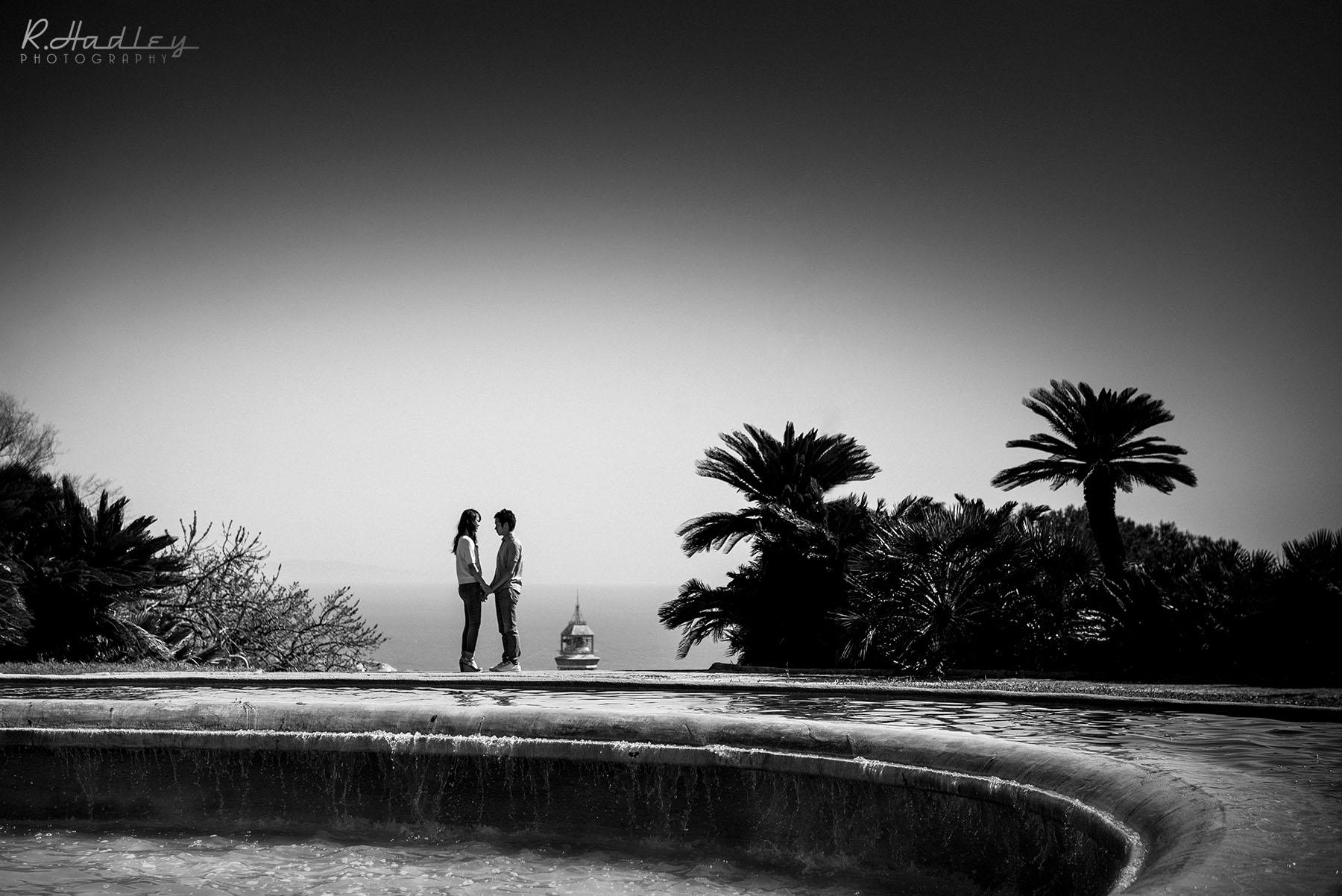 Portrait & engagement photo shoot in Barcelona at Montjuic Castle