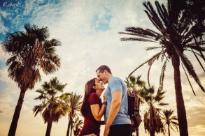 Engagment photo shoot in Barcelona
