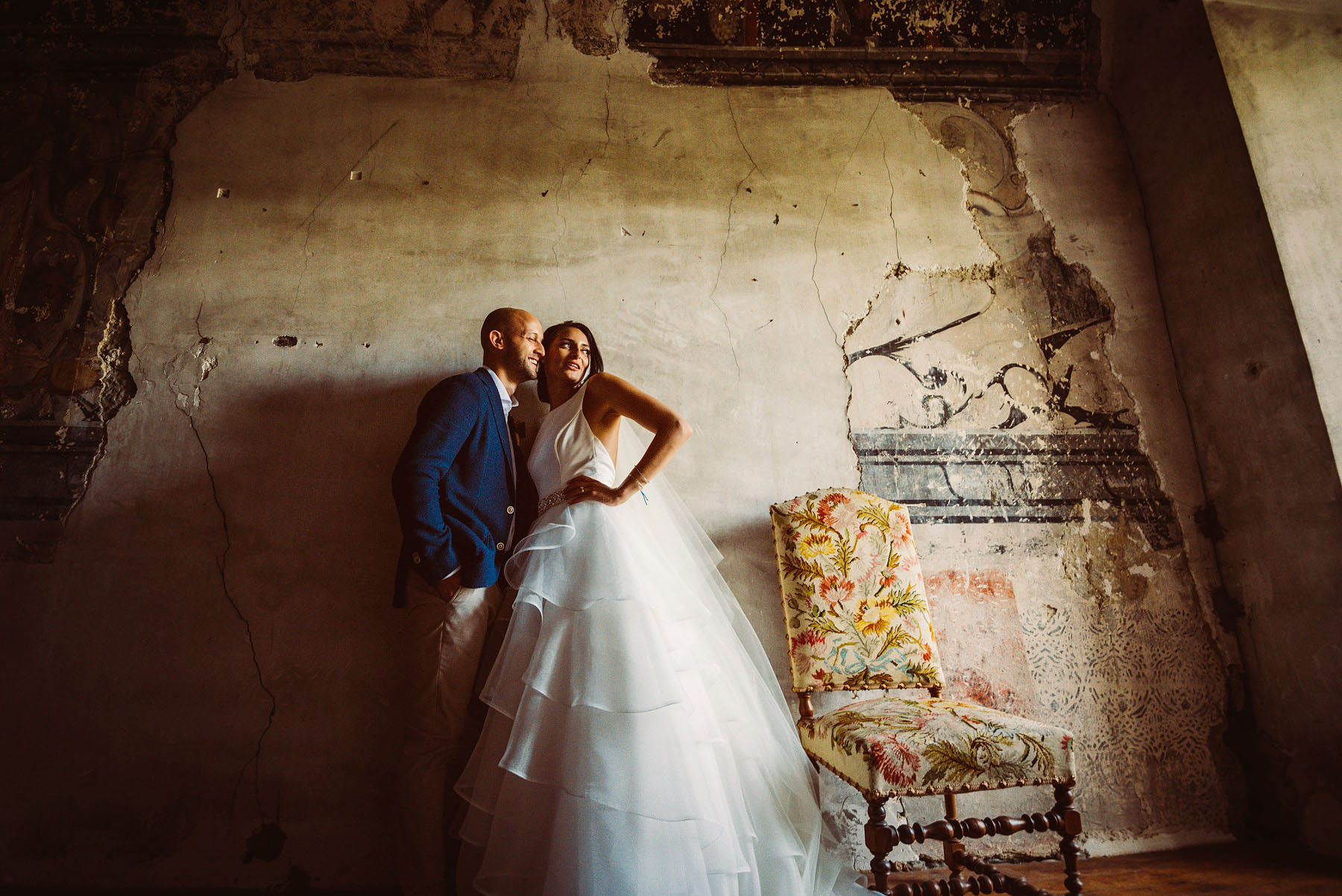Wedding in L'Abbey de Camon in the South of France