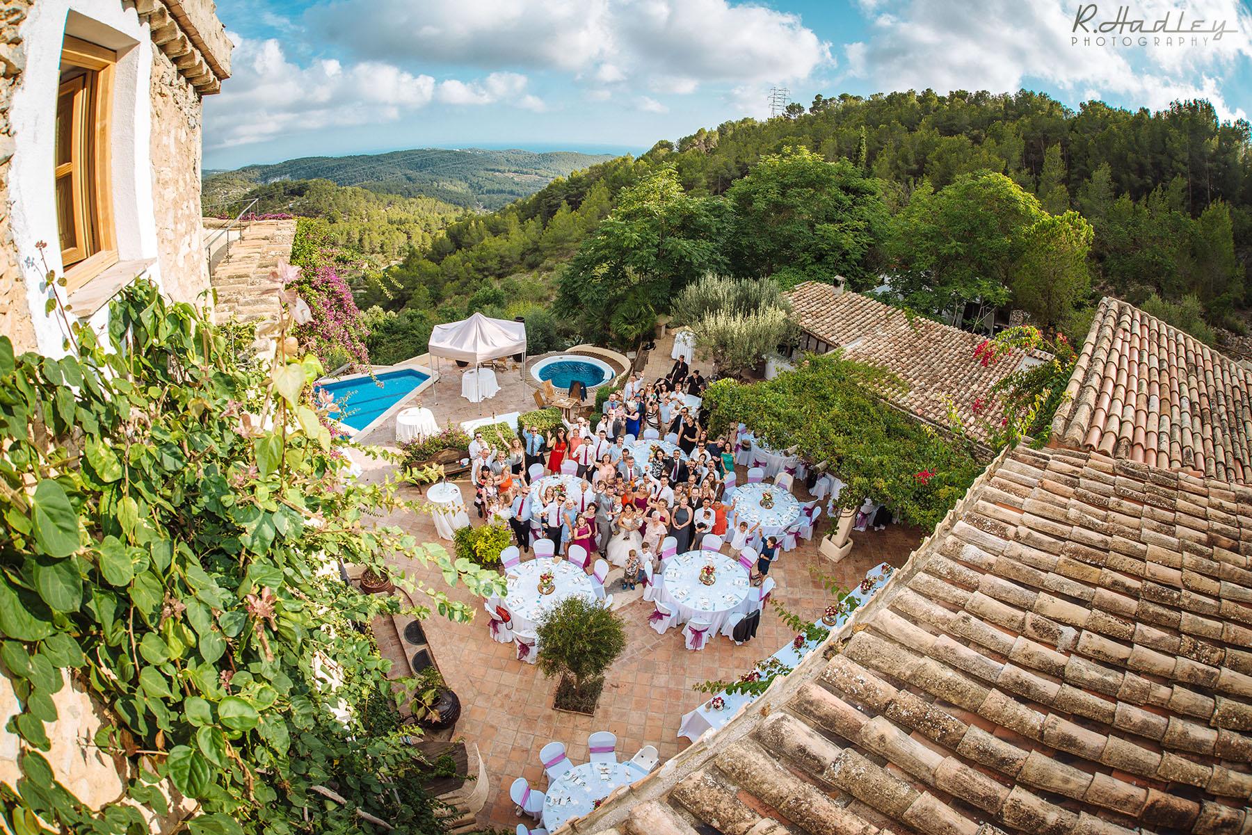 Wedding at Almiral de la Font, Sitges, Barcelona.