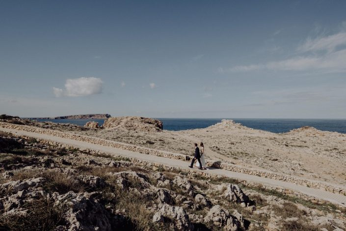 Wedding photography at Fornelles Tower fortress, Menorca.
